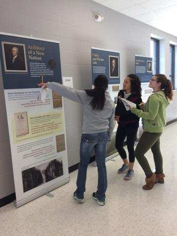 Schuyler R-1 High School is first to host the Gilder Lehrman Institute's traveling Alexander Hamilton exhibit.