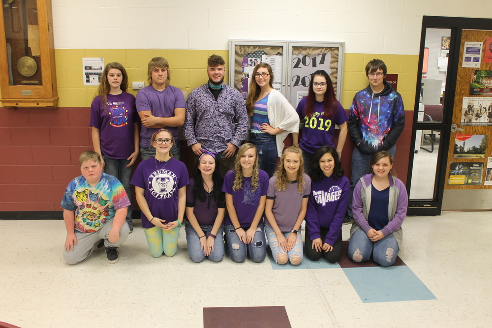 Schuyler R-1 FBLA Participates in Premature Awareness Day