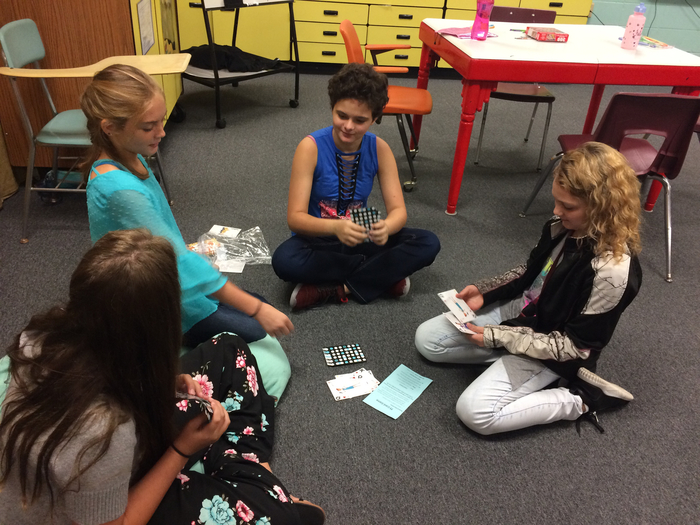 Sixth grade team building and math fact practice