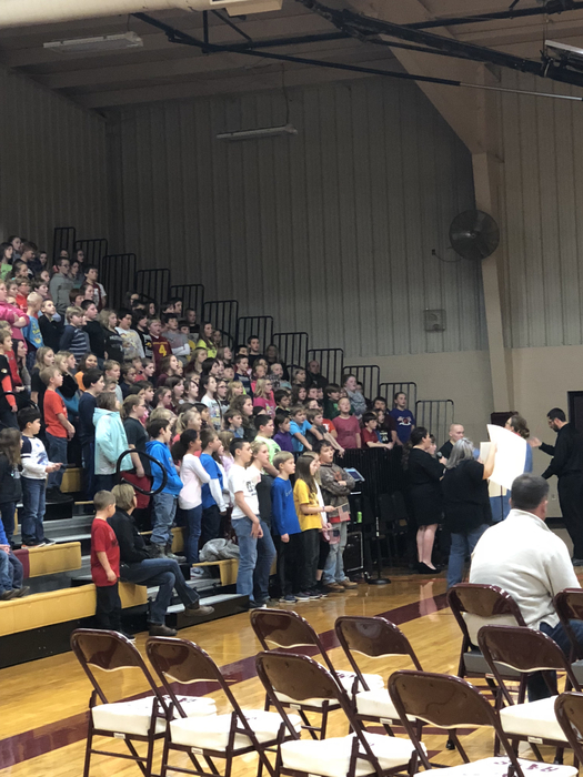 3-6 and HS Choir singing