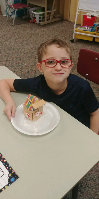 Carter's gingerbread house